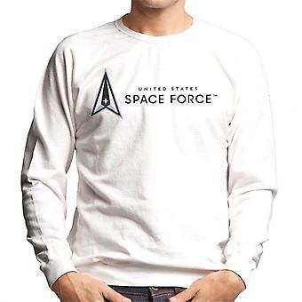 U.S. Space Force Dark Text Alongside Lighter Logo Men's Sweatshirt