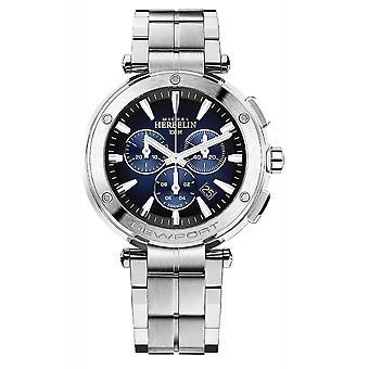 Michel Herbelin 37688-B35 Men's Newport Chronograph Silver Tone Bracelet Wristwatch