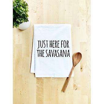 Juuri täällä Savasana Print -tiskipyyhettä