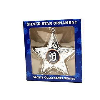 Detroit Tigers MLB Sports Collectors Series Silver Star Ornament