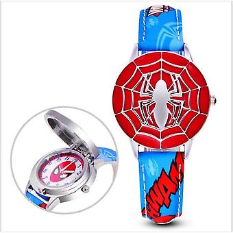 Gyerekek Watch Hero Amerika Kapitány Spiderman Ironman Watch Gyermek bőr kvarc