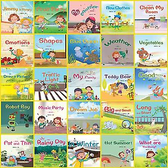 Random 10 Books 14x13.7cm Picture Books, Baby English Enlightenment Story Book