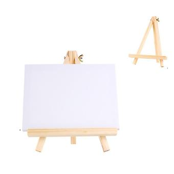 Mini Canvas And Natural Wood, Easel Set - Art Painting, Drawing, Wedding,