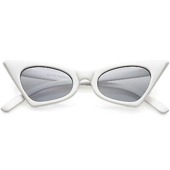Retro Small High Pointed Cat Eye Sunglasses Oval Lens 46mm