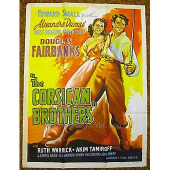 The Corsican Brothers Movie Poster Print (27 x 40)