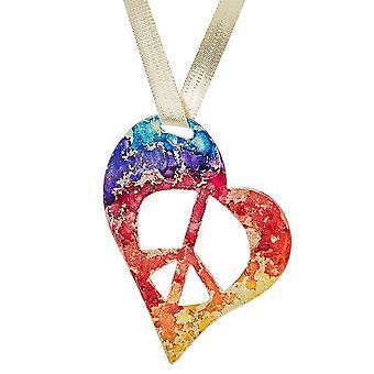 Rainbow Peace Love Ornament