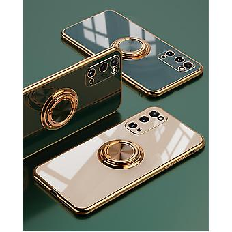 Samsung Galaxy S20 Plus Luxurious Stylish Shell with Ring Stand Feature Gold