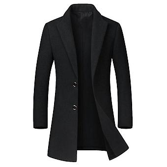 High-quality Wool Coat Casual Slim Collar Wool Coat's