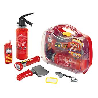 theo klein firefighter henry play set with toy mobile phone red 3 years+