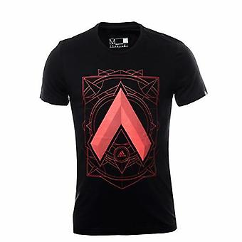 Adidas Ace Black Cotton Graphic Mens T-Shirt Tee Top AY7237 A2C
