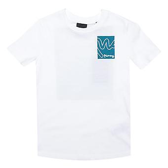 Boy's Money Junior Box Sig T-Shirt in White