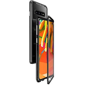 Samsung Galaxy Note 8 Magnetische Gehard Glas Shell Case - Zwart