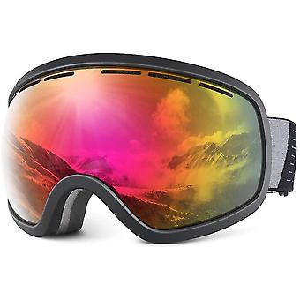 Snowledge Ski Snow Goggles for Men Women, OTG Snowboard Goggles with UV Protection