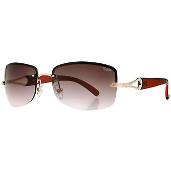 Suuna Metal Rimless Sunglasses - Light Gold/Brown