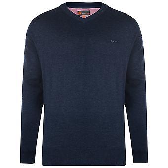KAM Jeanswear V Neck Knitted Jumper