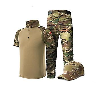 Summer Tactical Short Sleeve Suit Set, Tactical Frog Suit Scouting Uniforms