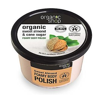 Organic Sweet Almond and Cane Sugar Foamy Body Polish 250 ml