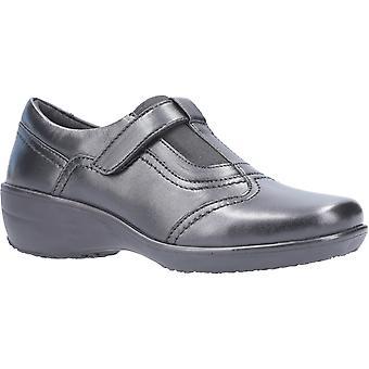 Fleet & Foster Ethel Womens Ladies Leather Wedge Shoes Black UK Size