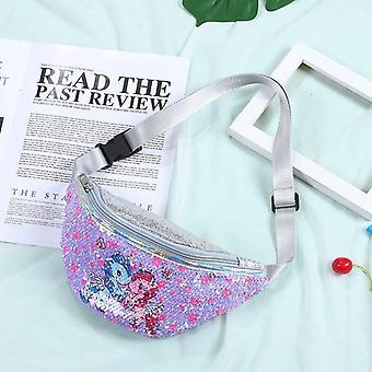 Sequins Printing Unicorn Waist Bag And Fanny Pack Shoulder Belt Bags Kids Waist