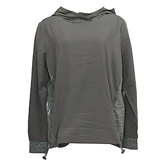 Anybody Women's Move Active High Tech Stretch Hoodie Gray A349816