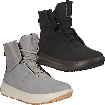 Ecco Womens Solice Gore-Tex Winter Warm GTX Leather Snow Boots Shoes - Cinza
