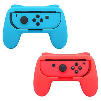 Stuff Certified® 2-Pack Controller Grip for Nintendo Switch Joy-Cons - NS Gamepad Handgrip Handle Red-Blue