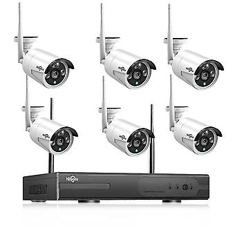 Cctv-systeem 8ch Hd Wireless Nvr Kit 3tb Hdd Outdoor Ir Night Vision Ip Wifi