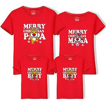 Dad Mom Baby Kerst T-shirt, Mama En Ik Shirt