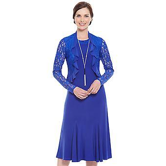 Amber Lace Trim Dress and Bolero Set 43 Inches