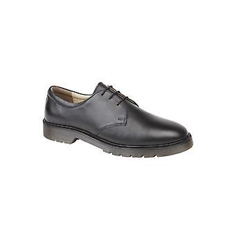 TredFlex Alan Mens Leather Lace Up Shoes Black