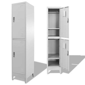 vidaXL armoire de casier avec 2 compartiments 38 x 45 x 180 cm