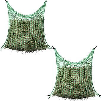 vidaXL Hay nets 2 pcs. Square 0.9x3 m PP