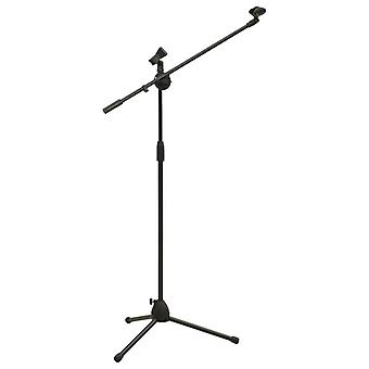 vidaXL tripod microphone stand with dual clip holder