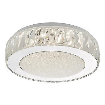 DAR AKELIA Flush Teto Luz Acrílica e Aço Inoxidável Pequeno LED