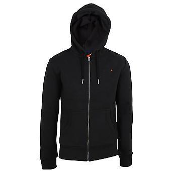 Superdry men's black classic zip hood