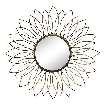 Kulta lanka kukka design korostus peili