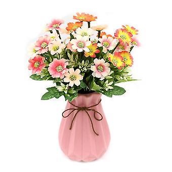 5Pcs人工花シャオランワ菊は女性のための花の偽の贈り物を乾燥