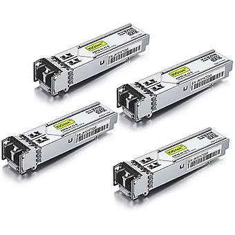 FengChun [4 Stück] Netgear Gigabit SFP SX Mulitmode AGM731F, 1000Base-SX 1G SFP LC Transceiver