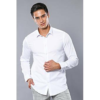 Stretch cotton white dress shirt | wessi