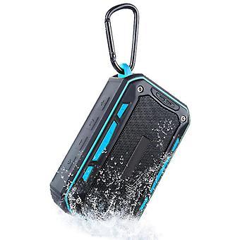 Sininen kannettava vedenpitävä Bluetooth-kaiuttimen USB-kaiutintuki AUX TF radio subwoofer