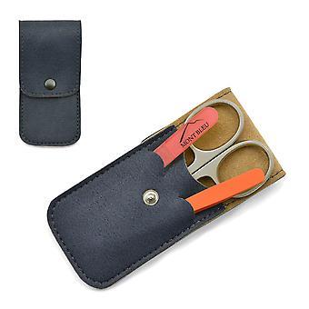Mont Bleu 3-piece Manicure Set in Soft Leatherette Case - Orange