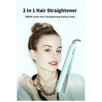 2 In 1 Professional Hair Straightener 2000W Anion Fluffy Hair Straightening|Curling Irons