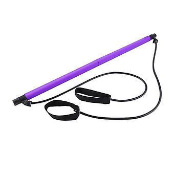 Pilates Exercise Stick Toning Bar Fitness Body Abdominal Resistance Bands Rope