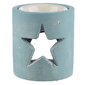 Blue Eden Christmas Star Concrete Oil Burner