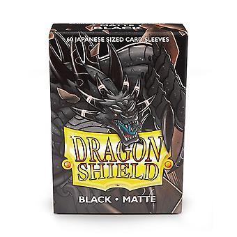 Dragon Shield Matte Black Japanese size Card Sleeves - 60 Sleeves