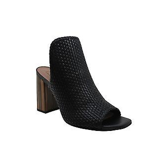 BCBGMAXAZRIA Women's Shoes Fabianna Leather Open Toe Formal Slide Sandals