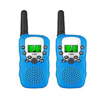 2 Pack Walkie Talkies For Kids, Two-way Radios With Flashlight , Best Outdoor Toys(Blue)