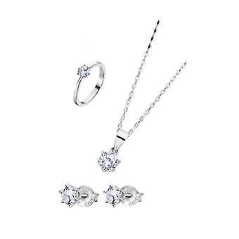Lotus juveler presentset - halsband, örhängen & ringstorlek 14 lp3117-6_314