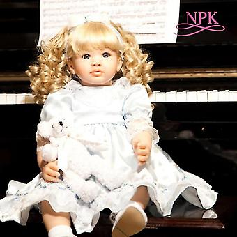 Genfødsel dukke 60cm pige dukke blød silikone klud krop naturtro bebe dukke genfødt boneca genfødt lille barn baby håndlavet sød gave
