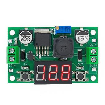 1Kpl lm2596 moduuli dc 4.0~40 - 1.3-37v säädettävä askeltehomoduuli led voltmeter
